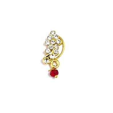 Indian Mores Traditional Maharashtrian Peshwaai Small Nath Nose Pin For  Girls and Women
