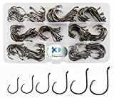 #5: 150pcs/box Circle Hooks 7384 2X Strong Custom Offset Sport Circle Hooks Black High Carbon Steel Octopus Fishing Hooks-Size:#1-5/0
