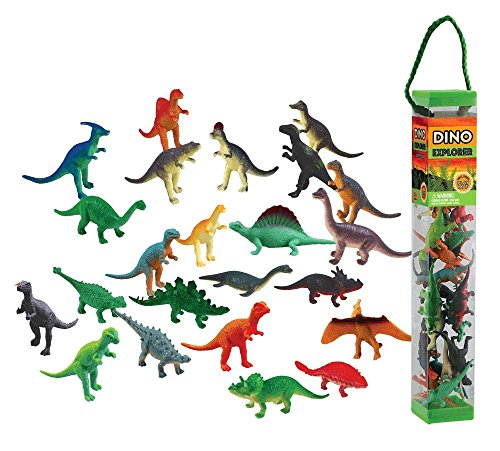 Dinosaur Toob - WowToyz Animal Explorer - Dinosaur Tube Playset - 24 Piece