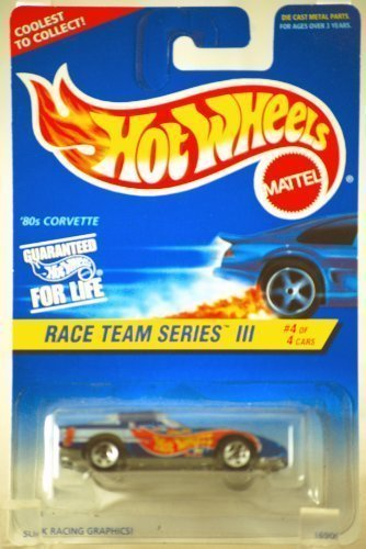 Mattel Hot Wheels #536 - 1997 Race Team Series III 1:64 Scale Blue 80's Chevy Corvette Die Cast Car 4/4 - Pro Rodz Series