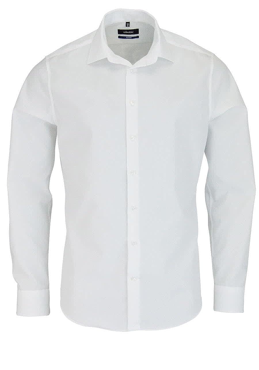 Seidensticker Herren Business Tailored Fit – Bügelfreies, Schmales Hemd mit Kent-Kragen – Langarm Businesshemd