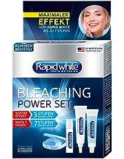 RAPID WHITE Bleaching Power Set, onmiddellijke tanden bleken, zonder waterstofperoxide, voor maximaal 7 niveaus wittere tanden, bleektoepassing voor thuis, blauw, zilver, 6 stuks (1 stuks)
