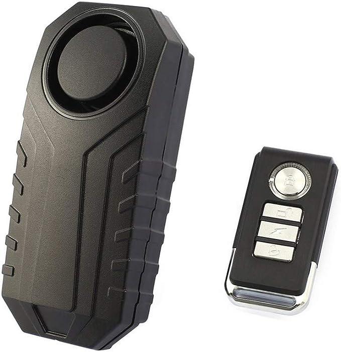 Dernon 113 Db Wireless Alarm System Motorcycle Bicycle Theft Alarm Lock With Remote Control Black Baumarkt