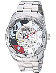 Invicta Mens Disney Limited Edition Automatic Stainless Steel Casual Watch, Color:Silver-Toned (Model: 25450)