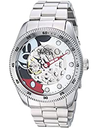 Mens Disney Limited Edition Automatic Stainless Steel Casual Watch, Color:Silver-