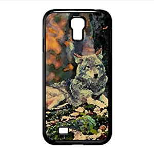 Wolfs Watercolor style Cover Samsung Galaxy S4 I9500 Case (Wild Watercolor style Cover Samsung Galaxy S4 I9500 Case)