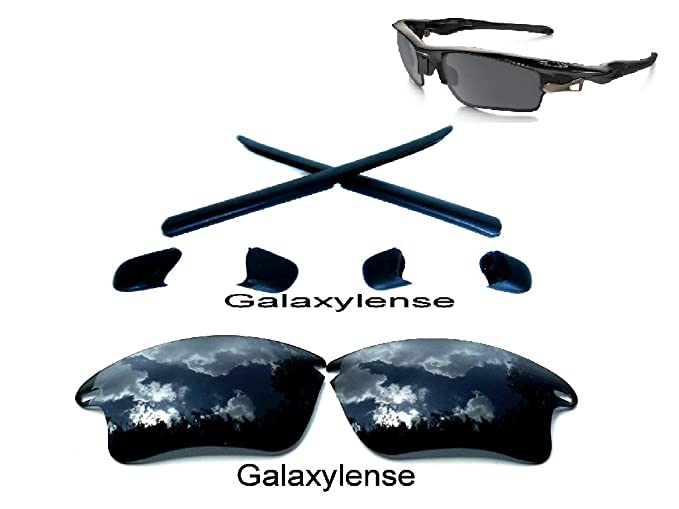 f6f576b5ad Amazon.com  Galaxy Rubber Kits + Replacement Lenses For Oakley Fast Jacket  XL Black  Clothing