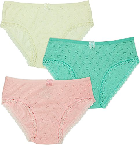 (Lucky and Me Little Girls' 3 Pack Organic Briefs (Toddler/Kid) - Pastel - 4/5)