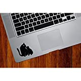 "JeeJayEnterprise® CAT MOM AND BABY KITTEN KISS TRACKPAD / KEYPAD / PALM REST 2.5X2.5"" VINYL DECAL STICKER FOR MACBOOK NOTEBOOK LAPTOP"