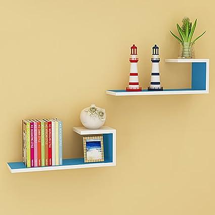 Storage rack Wall Shelf Living Room Wall Partitions Wall-mounted Shelf Modern Minimalist Bookshelf ( & Amazon.com: Storage rack Wall Shelf Living Room Wall Partitions Wall ...