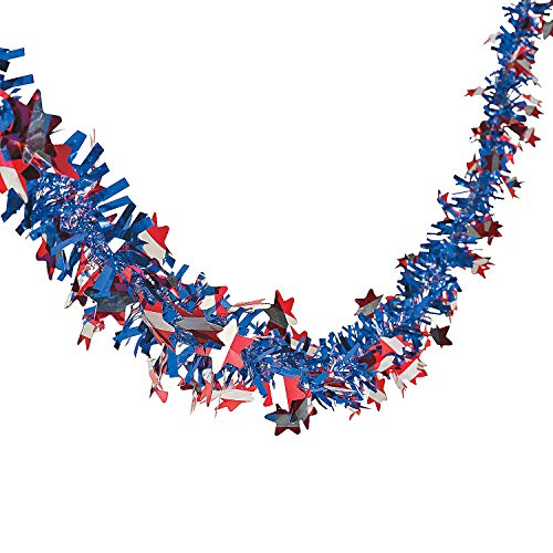 Patriotic Garland - 24 Ft. X 2 1/2 - 4th of July Party Supplies by Oriental Trading -