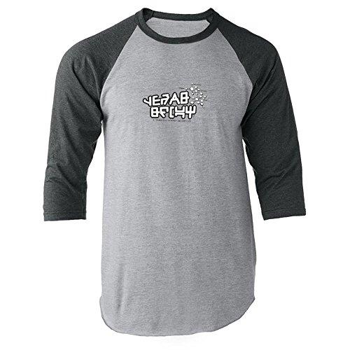 Pop Threads Galactic Gear Shift Halloween Costume Movie Comics Clothes Nerd Geek Gray XL Raglan Baseball Tee Shirt