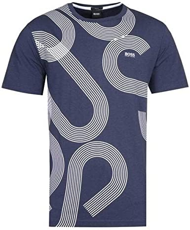 Hugo Boss Tee 7 - Camiseta de algodón, talla regular, color azul marino: Amazon.es: Ropa y accesorios