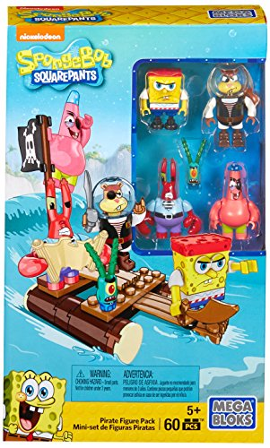 (Mega Bloks  Spongebob Squarepants Pirate Figure Pack Building Playset)