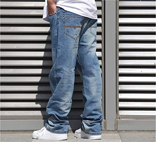 Pantalones Men Hombre Jeans Colour Hip Hop Soft Dancing para Vaqueros Jeans Pants Denim Vintage Pantalones Fashion Joven Casual Baggy Sqw1Srx