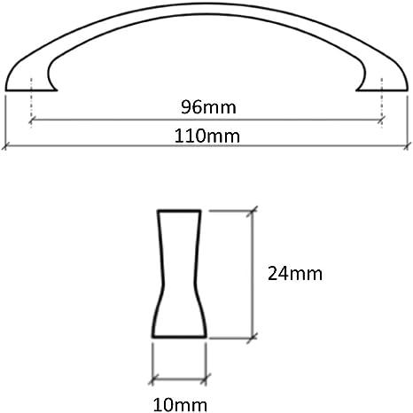 AERZETIX 5x Tirador para caj/ón alacena puerta mueble armario Nadym plata mate 128mm C41708