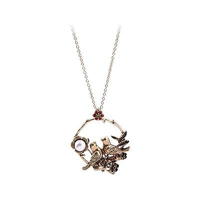 Amazon com: nonsucheer Women Long Necklace Antique Gold