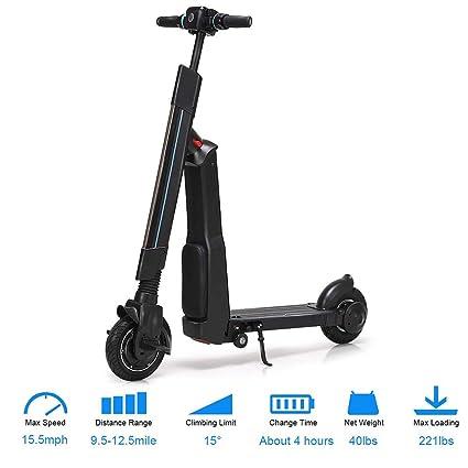 YOUYE Scooter eléctrico Patinete Plegable Ajustable, Rango ...