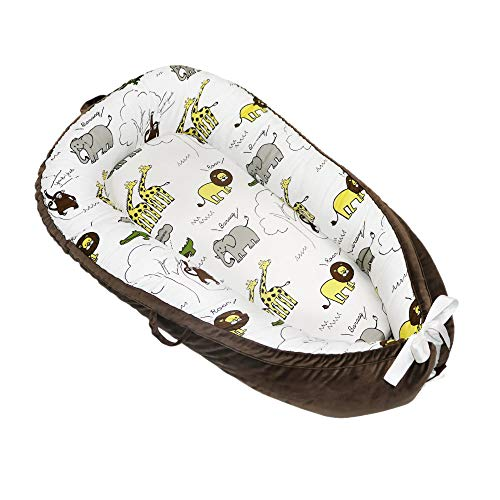 Asunflower Baby Nest Cotton Newborn Lounger Insert for Nursery Crib, Portable Snuggle Bed for Infants/Toddlers as Travel Crib Bassinet Fit for 0-12 Months