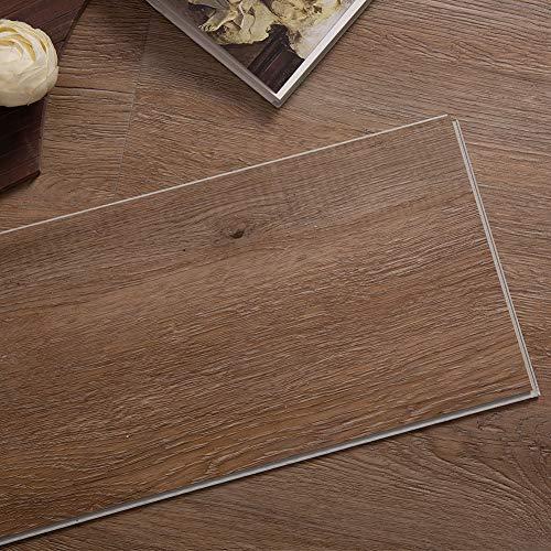 Diflart 23.6 sq.ft Luxury Vinyl Click Locking Plank Flooring 48x7 inch Floating Lvt Flooring Waterproof Foam Back Rigid Core Wood Grain Finish Pack of 10 (Classical Oak)