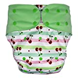Big Kids Cloth Diaper Cover – Reusable & Washable for Special Needs Incontinence (Cherry, Youth)