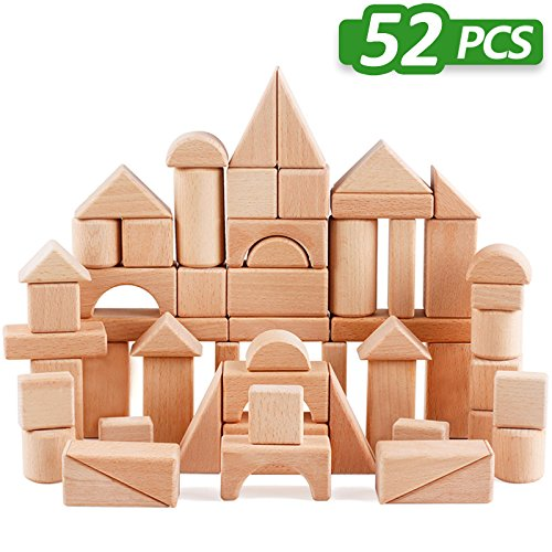 Wooden Blocks iLearn Natural Stacking