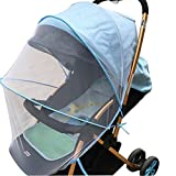 Baby Mosquito Net for Strollers Cradles Portable Baby Stroller Mosquito Net Foldable Bug Net for Baby Strollers Infant Carriers Car 1PC (Blue)