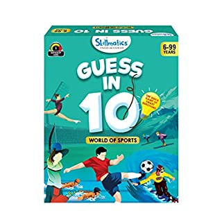 Skillmatics Guess in 10 World of Sports - Card Game of Smart Questions for Kids & Families | Super Fun & General Knowledge for Family Game Night | Gifts for Kids (Ages 6-99)