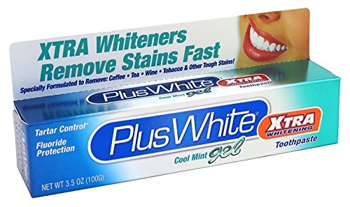 Plus White Toothpaste Xtra Whitening Cool Mint Gel 3.5oz (6 Pack)