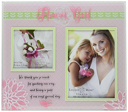 Lillian Rose Flower Girl Picture Frame, 8.5-Inch by 7.5-Inch