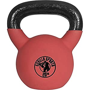 Gorilla Sports Kettlebell Red Rubber, 20kg, 10000491;5