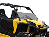 SuperATV Heavy Duty Dark Tint Standard Polycarbonate Half Windshield for Can-Am Commander 800/1000 (2011+) - Installs in 5 Minutes!