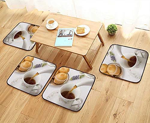 (UHOO2018 Fillet Chair Cushion teapot Pour Tea into a Cup Focus on Pour Suitable for The Chair W13.5 x L13.5/4PCS Set)