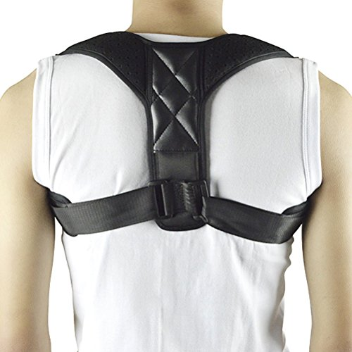 HOOPEN Kyphosis hunchback Shoulder Alignment Back Posture Corrector Clavicle Adjustbale Velcro Support Brace Medical Device to Improve Bad Posture, Thoracic Upper Back Pain Relief for Teens Adults by HOOPEN