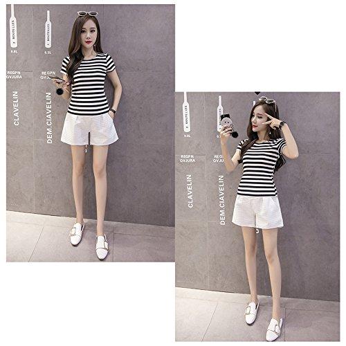 pantaloni corti elastica di di modo Fuyingda Bianca maternità formato di della delle estate di più donne maternità Pantaloni di vita UYnq5nBO