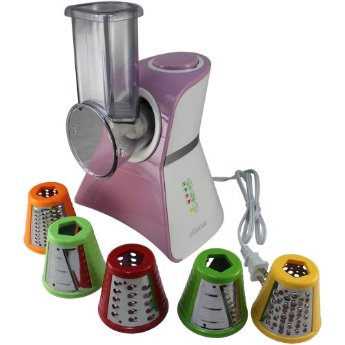 Salad Maker Mini Food Processor and Produce Shooter - Spray Pink