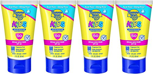 Banana Boat Kids Tear Free Sunscreen Lotion Travel Size SPF 50, 2 Ounce (Pack of 4) by Banana Boat (Image #2)