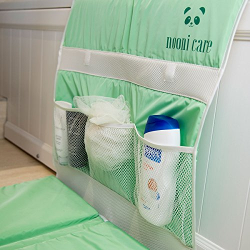 Nooni Care Bath Kneeler with Elbow Rest Cushion | Safety and Comfort for Parents During Baby Bath Time | Perfect Baby Shower Gift, Green