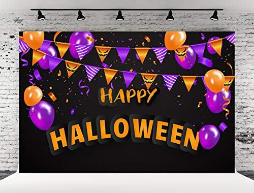 Kate 7x5ft Happy Halloween Photo Backdrops Black Background