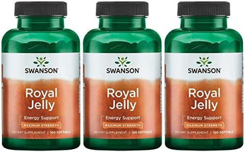 Swanson Royal Jelly - Maximum Strength 333.33 mg 100 Sgels 3 Pack