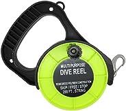 Scuba Choice Scuba Diving Multi Purpose Dive Reel, 290', Ye
