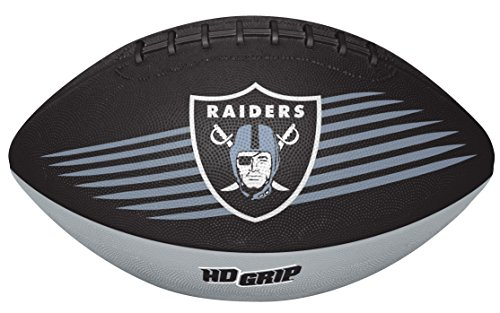 Rawlings NFL Oakland Raiders 07731072111NFL Downfield Football (All Team Options), Black, Youth