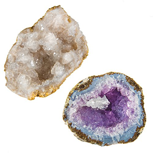 Geode Rock Science Kit – Crack Open 2 Amazing Rocks and Find Crystals!