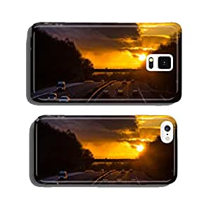 Sunset on highway three lanes Germany cell phone cover case iPhone6 Plus