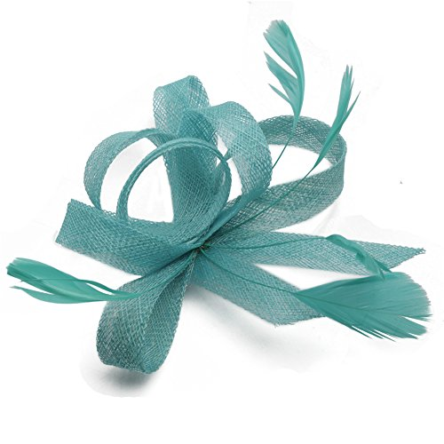 Women's Vintage Fascinators Hat Flower with Clip for Wedding Bridal Headware Church Cocktail Party Headdress by Hoxekle