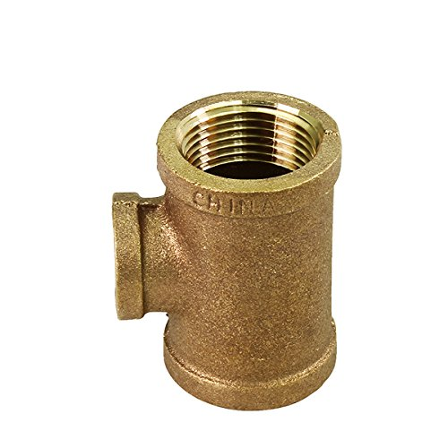 (Everflow BRRT1000-NL 1 x 1/4-Inch Lead Free Brass Reducing Tee Two Size with Female Threaded Connections Ends, Brass Construction, Higher Corrosion Resistance Economical & Easy to Install)