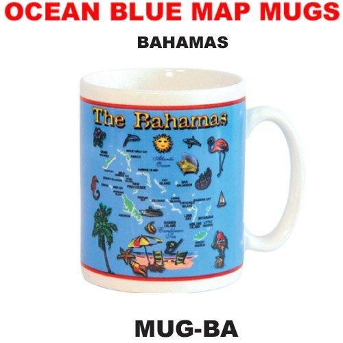 Mug The Bahamas Blue Ocean Map Souvenir Coffee Mug Tea Cup 11 Ounce