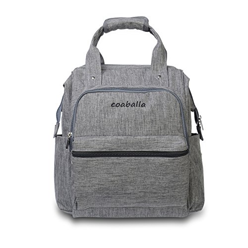 Coaballa Multi-Function Travel Diaper Bag Backpack Organizer for Men and Women- Extra Large/Grey (Doll Baby Stroller Combo)