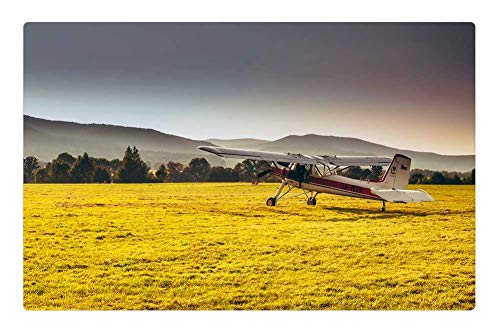 Tree26 Indoor Floor Rug/Mat (23.6 x 15.7 Inch) - Czech Republic Mountains Landscape Airplane Plane