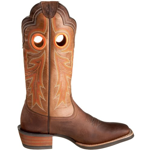 Ariat Mens Wildstock Western Cowboy Boot Weathered Brown / Quarzo